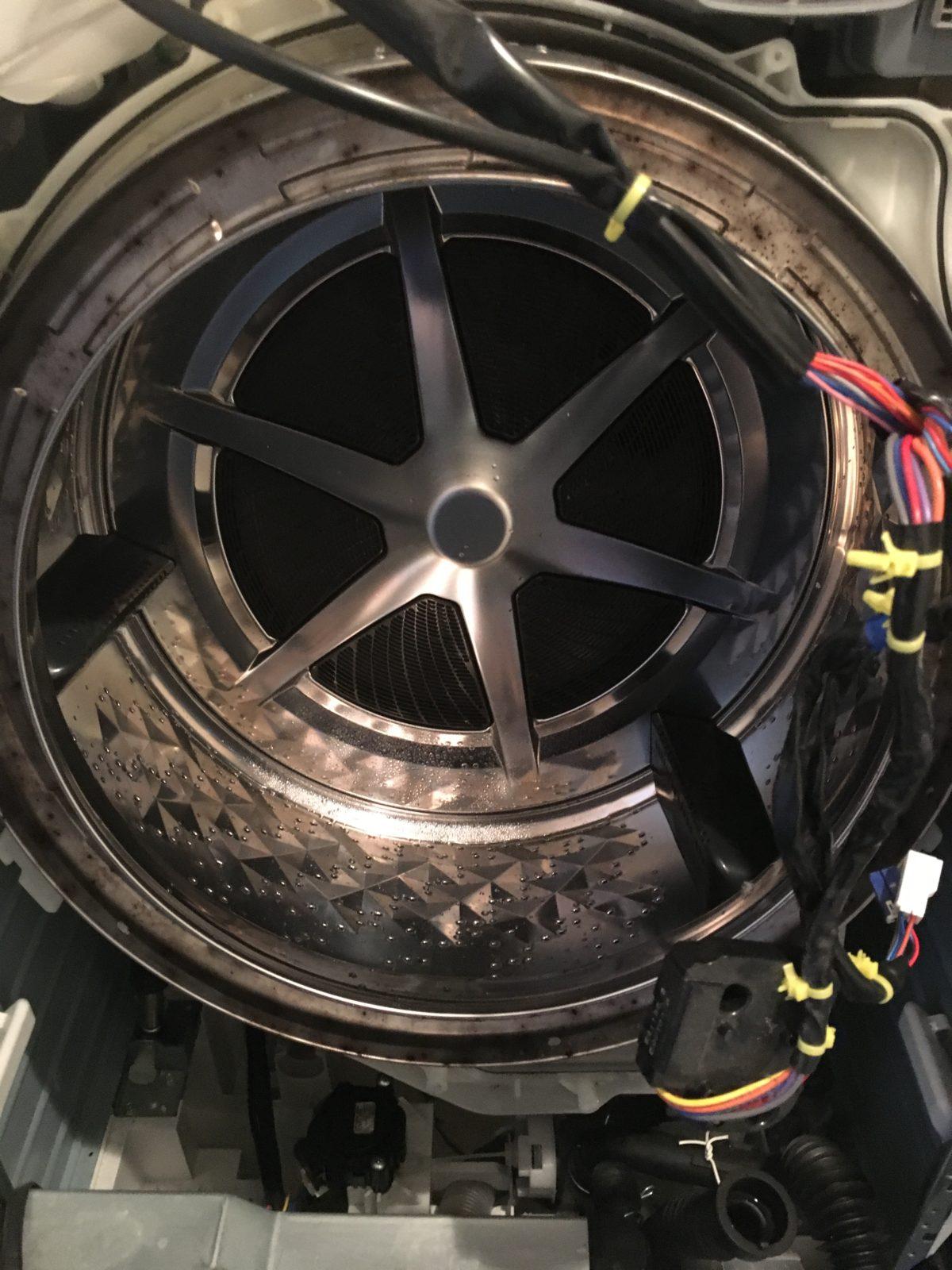 パナソニック:NA-VG700 ドラム内部 ビフォー